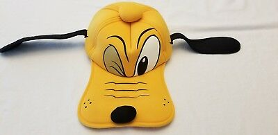 0dc3cd6bd5b Disney Parks Pluto Hat Ears Cap Adult Size Cosplay Plush Winking Face  Vintage