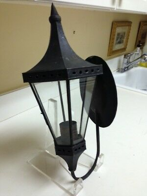 Black Wrought Iron Carriage Lamp For Candles Made in Mexico