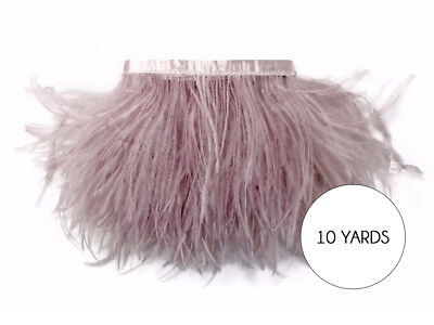 10 Yards - Taupe Ostrich Fringe Trim Wholesale Feather Craft Prom Dress Supplier
