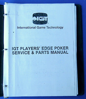 Igt Players Edge Video Poker Machine Service & Parts Manual 1986 Binder