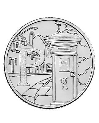 NEW A-Z 2018 ALPHABET 10p COIN HUNT- LETTER P - POST BOX  UNCIRCULATED