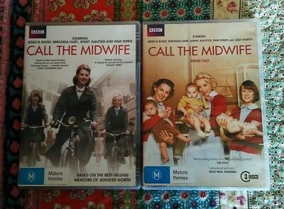 BBC Call the Midwife Series 1 and Series 2 DVD sets - Region 4