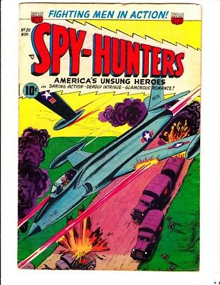 Spy-Hunters 20 (1952): FREE to combine- in Good/Very Good condition
