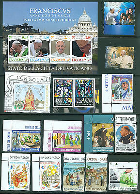 Vatican City 2016 Compete MNH Year Set