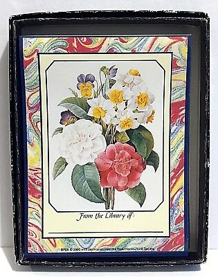Floral Bookplates Box of 23 Quality Artworks 1990 Royal Horticultural Society