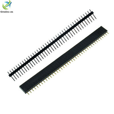 10PCS Female&Male 40pin 2.54mm Header Socket Single Row Strip PCB Connector E