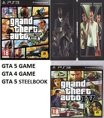 PS3 Grand Theft Auto GTA 5 PS3 V GTA 4 IV Assorted - Super Fast Delivery