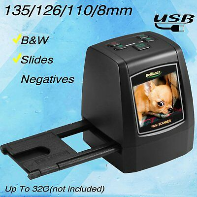 NEW 135mm/ 126mm/ 110mm/ 8mm High Definition Film Scanner Fast Photo Printed B2