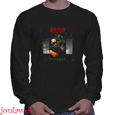 KREATOR Thrash Metal Band Legend Men's Long Sleeve Black T-Shirt Size S to 3XL