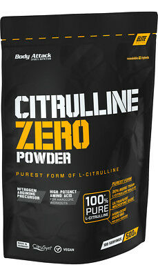 Body Attack Citrulline Zero - 500 G Acide Aminé 100% Pur Citruline ou Additifs