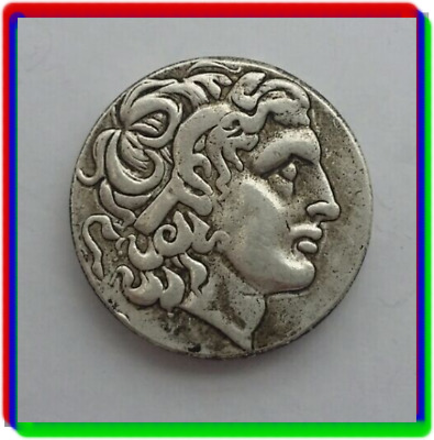 Rare Ancient Greek Coin 336-323 BC Silver Plated Drachm Alexander The Great III