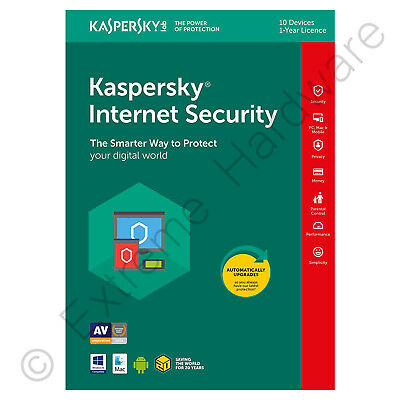 Kaspersky Internet Security 2019 Multi-Dispositivo 10 Utente 1 Anno Licenza