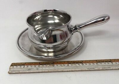 Wallace V8851 Silverplate Sauce Gravy Pot with handle spout & Underplate 18-2188