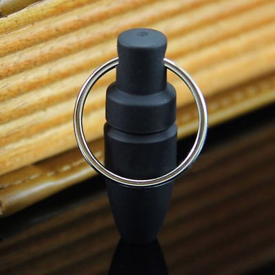 Practical Rubber Cigar Punch Cutter Blade Key Ring Chain Bullet Style Draw Hole