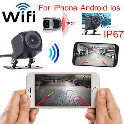 150° WIFI Wireless Car Rear View Camera Backup Reverse For iPhone Android ios