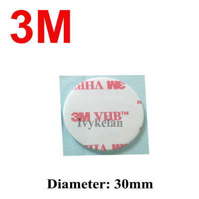 3M VHB 4910 Round Double-sided Acrylic Foam Tape 30mm diameter 1mm thick clear
