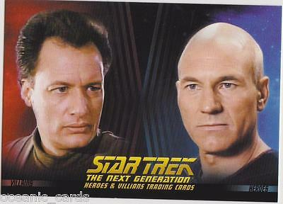 Star Trek Heroes & Villains Trading Promo Collector Card P1 The Next Generation