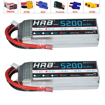 2xHRB 3S 11.1v 5200mAh 50C RC Battery Lipo Battery For Trucks Buggy Drone toys