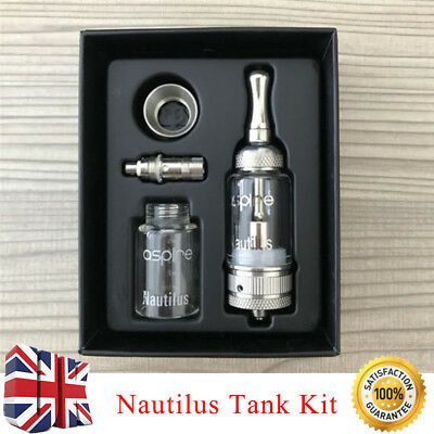 UK 5Ml Aspire Nautilus Tank Kit With Adjustable Air Hole & Bvc Coil Coils New