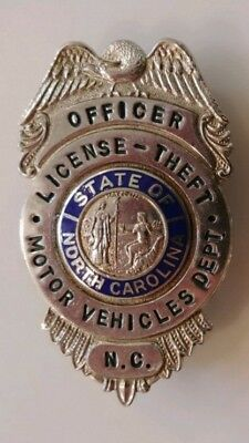 Obsolete North Carolina Department of Motor Vehicle badge