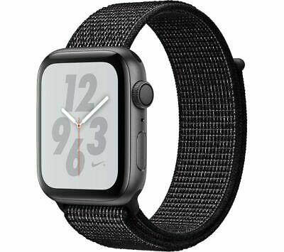 APPLE Watch Series 4 Nike+ - Space Grey & Black Sports Band, 44 mm - Currys