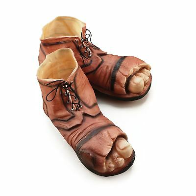 Tramp Clown Gnome Hobo Boots Giant Big Feet Fancy Dress Costume Shoes with Toes