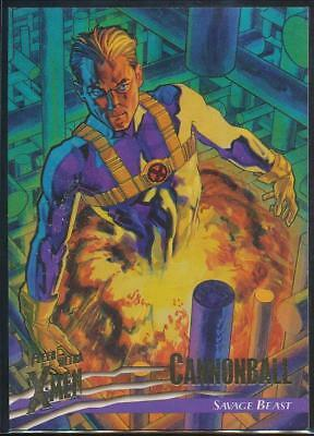 1996 X-Men Ultra Wolverine Trading Card #92 Cannonball