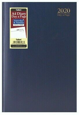 2020 diary A4/A5 Page a Day/Week to View Diary Hardback Casebound Blue cover