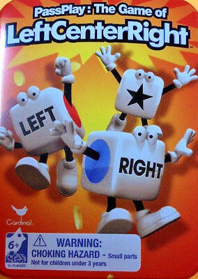Left Center Right Dice Game Inside Game Travel Tin w