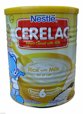 Nestle Cerelac Infant Baby Rice With Milk 6m+ Weaning free p&p 400g gluten free