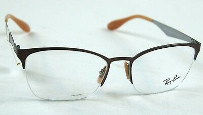 66459420944 RAY BAN EYEGLASS Frame Rx6345 2732 Brushed Light Brown 52-17-135 New ...