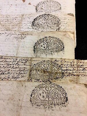 COLLECTION OF FIVE PAPERS 1720s