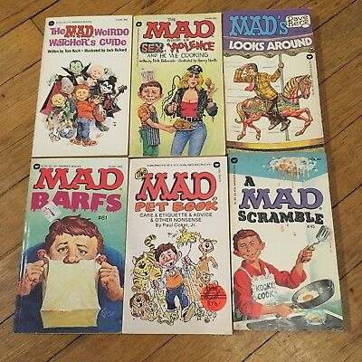 Mad Magazine Lot Of Six Vintage Paperback Books 80's Dave Berg