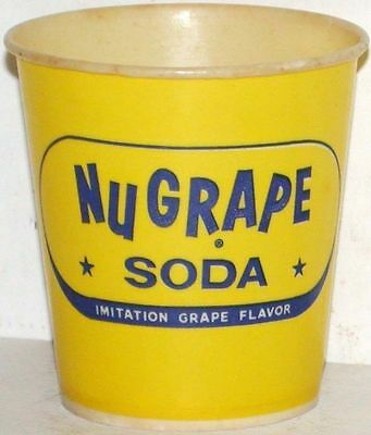 Vintage paper cup NUGRAPE SODA 4oz size unused and in new old stock n-mint cond