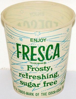 Vintage paper cup FRESCA by Coca Cola 4oz Free Sample new old stock n-mint+ cond