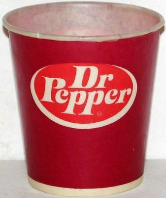 Vintage paper cups DR PEPPER Lot of 3 different new old stock n-mint+ condition