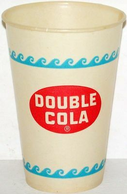 Vintage paper cups DOUBLE COLA Lot of 2 different unused new old stock n-mint+