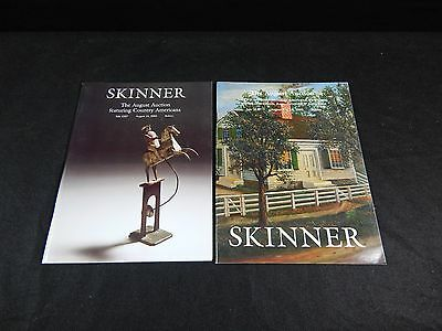 "Skinner's Auction Catalogs ""the August Auction"" 2002-2003 Lot Of 2"