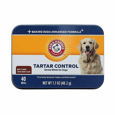 Arm & Hammer Dog Dental Plaque Tartar Control Oral Care Mints - Beef Flavour