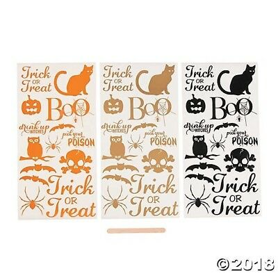 3 sheets Halloween Rub-On Transfers Party Decorations CRAFTS DIY HAUNTED HOUSE