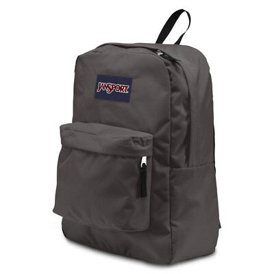 NWT JANSPORT SUPERBREAK Backpack Gray Pockets Bag NEW School Student Gym BTS 2f5cccdc146a8