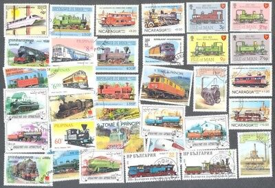 Railways-Trains-Trams 100 all different collection