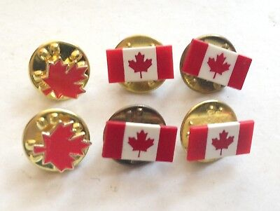 Lot of 6 CANADA * Enamel Lapel Pin Pinback * Vintage * Combine Shipping!