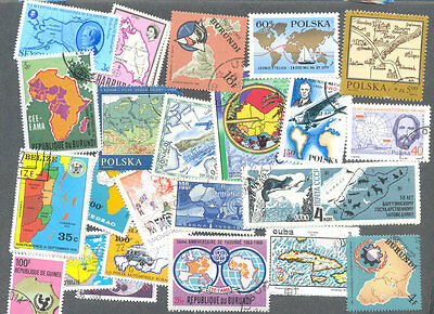 Maps on stamps 200 all different collection