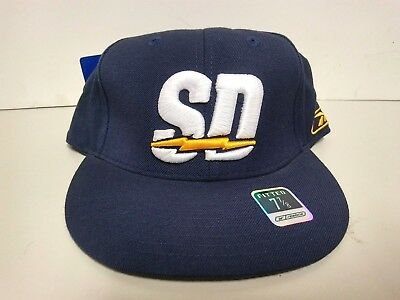 Vintage Reebok San Diego Chargers Fitted Hat Navy White Men Sz 7 1 8 - f5947745d