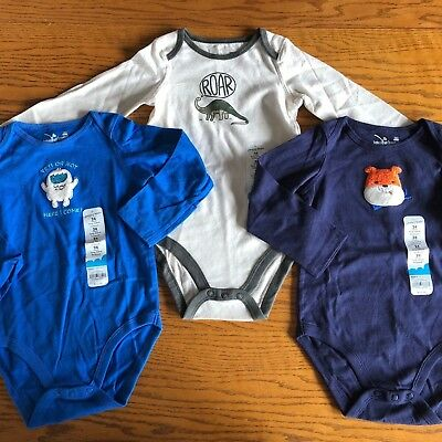 NEW 24 Month Boy bodysuit LOT $36 retail Dinosaur Dog Yeti Jumping Beans NWT
