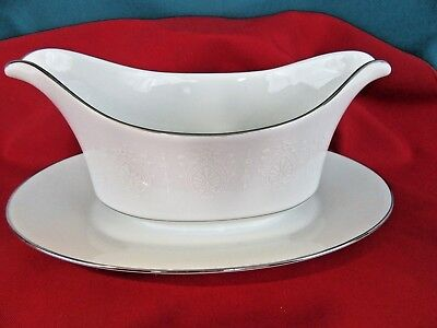 Gravy Boat with Attached Under Plate - Crown Empire Princess Fine China Japan