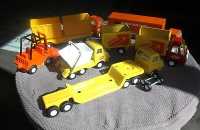 Lot Vintage Mini Tonka Ralstoy Toy Vehicles Tractor Trailers Trucks