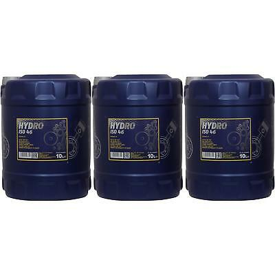 30 Litre Mannol Hydro Iso 46 Hydraulics Oil Liquid MN2102-10 Din 51524 Part 2