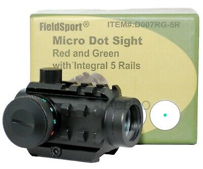4 MOA Red and Green Dot Reflex Sight Low Profile Micro 20MM Mount with 5 Rails